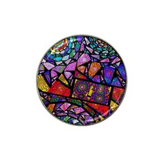 Fractal Stained Glass Hat Clip Ball Marker (4 Pack)