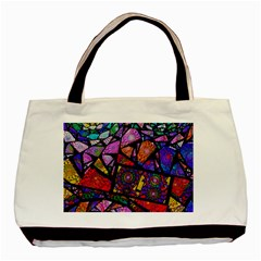 Fractal Stained Glass Basic Tote Bag