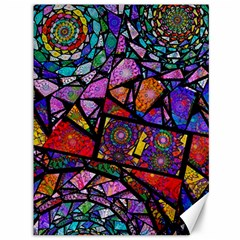Fractal Stained Glass Canvas 36  X 48   by WolfepawFractals