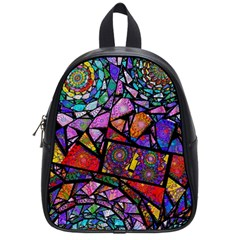 Fractal Stained Glass School Bags (small)  by WolfepawFractals