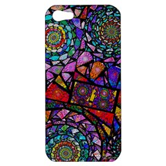Fractal Stained Glass Apple Iphone 5 Hardshell Case by WolfepawFractals
