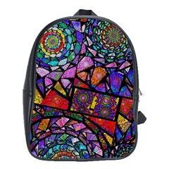 Fractal Stained Glass School Bags (xl)  by WolfepawFractals