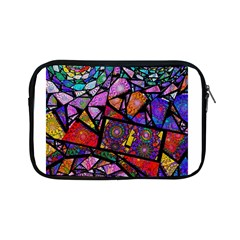 Fractal Stained Glass Apple Ipad Mini Zipper Cases by WolfepawFractals
