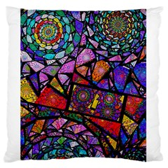 Fractal Stained Glass Standard Flano Cushion Case (two Sides) by WolfepawFractals