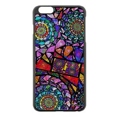 Fractal Stained Glass Apple Iphone 6 Plus/6s Plus Black Enamel Case by WolfepawFractals