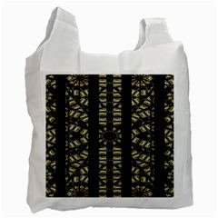 Vertical Stripes Tribal Print Recycle Bag (one Side) by dflcprints