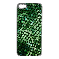 Dragon Scales Apple Iphone 5 Case (silver) by KirstenStar