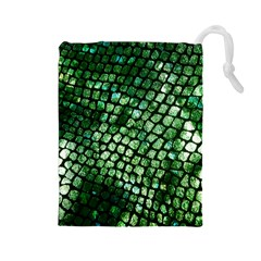 Dragon Scales Drawstring Pouches (large)  by KirstenStar
