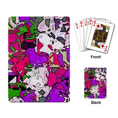 Ink Shapes                                                                         			playing Cards Single Design by LalyLauraFLM