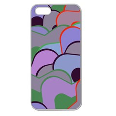 Wavy Shapes Pieces                                                                          			apple Seamless Iphone 5 Case (clear) by LalyLauraFLM