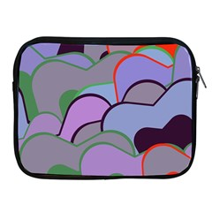 Wavy Shapes Pieces                                                                          			apple Ipad 2/3/4 Zipper Case by LalyLauraFLM