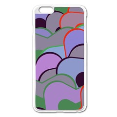 Wavy Shapes Pieces                                                                          			apple Iphone 6 Plus/6s Plus Enamel White Case by LalyLauraFLM