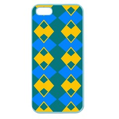Blue Yellow Rhombus Pattern                                                                           			apple Seamless Iphone 5 Case (color) by LalyLauraFLM