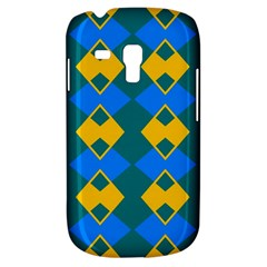 Blue Yellow Rhombus Pattern                                                                           			samsung Galaxy S3 Mini I8190 Hardshell Case by LalyLauraFLM