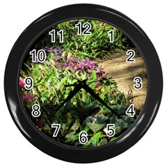 Shadowed Ground Cover Wall Clocks (black) by ArtsFolly