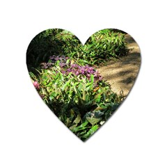 Shadowed Ground Cover Heart Magnet by ArtsFolly