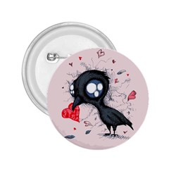 Baby Crow  2 25  Buttons by lvbart