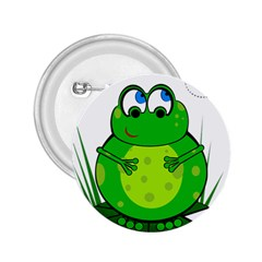 Green Frog 2 25  Buttons by Valentinaart