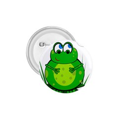 Green Frog 1 75  Buttons by Valentinaart