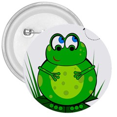 Green Frog 3  Buttons by Valentinaart