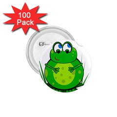 Green Frog 1 75  Buttons (100 Pack)  by Valentinaart