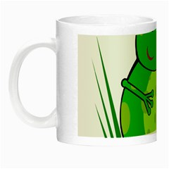 Green Frog Night Luminous Mugs by Valentinaart