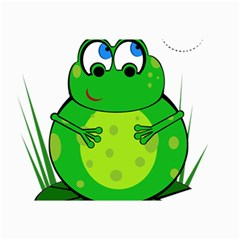 Green Frog Collage Prints by Valentinaart