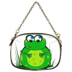Green Frog Chain Purses (two Sides)  by Valentinaart