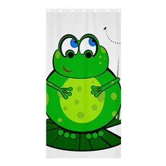 Green Frog Shower Curtain 36  X 72  (stall)  by Valentinaart
