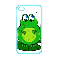 Green Frog Apple Iphone 4 Case (color) by Valentinaart