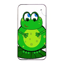 Green Frog Apple Iphone 4/4s Seamless Case (black) by Valentinaart