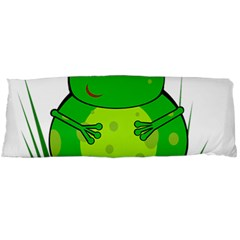 Green Frog Body Pillow Case Dakimakura (two Sides) by Valentinaart