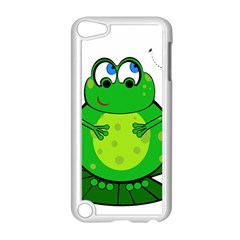 Green Frog Apple Ipod Touch 5 Case (white) by Valentinaart