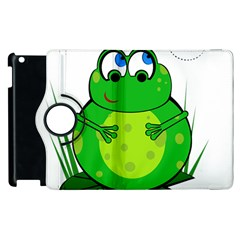 Green Frog Apple Ipad 2 Flip 360 Case by Valentinaart