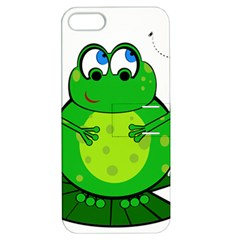 Green Frog Apple Iphone 5 Hardshell Case With Stand by Valentinaart