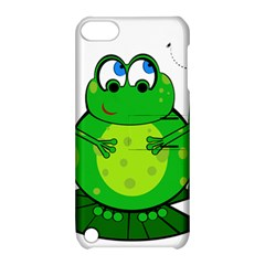 Green Frog Apple Ipod Touch 5 Hardshell Case With Stand by Valentinaart