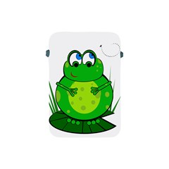 Green Frog Apple Ipad Mini Protective Soft Cases by Valentinaart