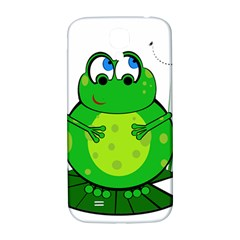 Green Frog Samsung Galaxy S4 I9500/i9505  Hardshell Back Case by Valentinaart