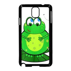 Green Frog Samsung Galaxy Note 3 Neo Hardshell Case (black) by Valentinaart