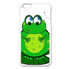 Green Frog Apple Iphone 6 Plus/6s Plus Enamel White Case by Valentinaart