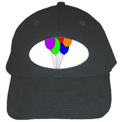 Colorful Balloons Black Cap by Valentinaart