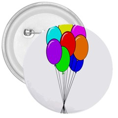 Colorful Balloons 3  Buttons by Valentinaart