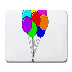Colorful Balloons Large Mousepads by Valentinaart