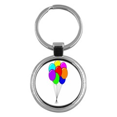 Colorful Balloons Key Chains (round)  by Valentinaart