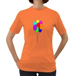 Colorful Balloons Women s Dark T-Shirt Front