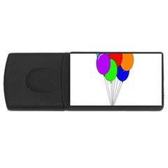 Colorful Balloons Usb Flash Drive Rectangular (4 Gb)  by Valentinaart