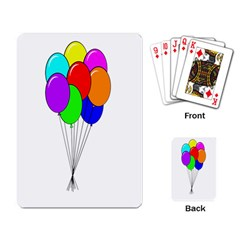 Colorful Balloons Playing Card by Valentinaart