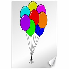 Colorful Balloons Canvas 24  X 36  by Valentinaart