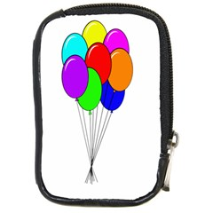 Colorful Balloons Compact Camera Cases by Valentinaart