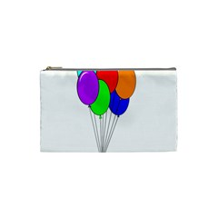 Colorful Balloons Cosmetic Bag (small)  by Valentinaart